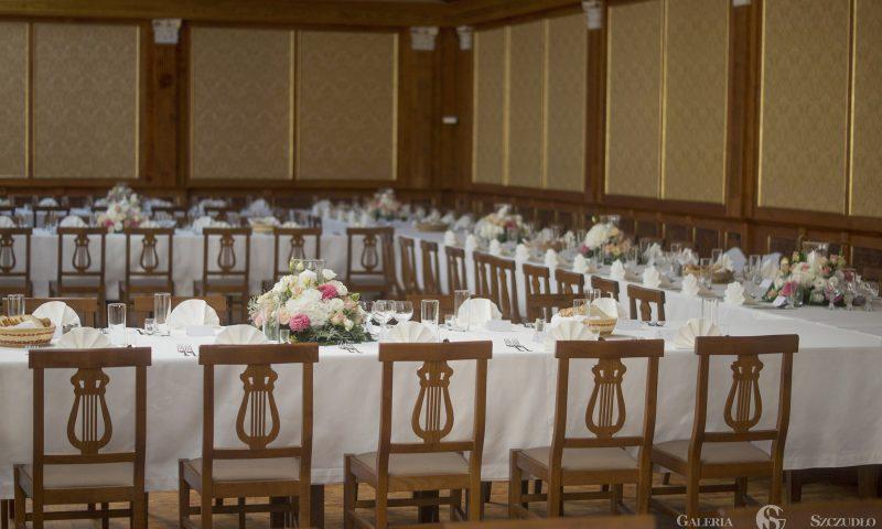 wnętrza Galerii Szczudło – Dekoracje – sala weselno konferencyjna bankietowa